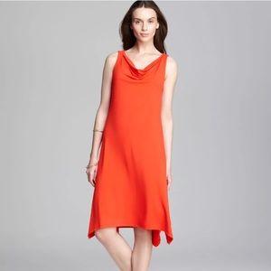 Eileen Fisher Asymmetrical Orange Dress S